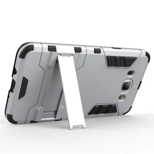 King*Shop~新爆款三星J7(2016)手機殼鋼鐵侠手機套全包邊保護套防摔支架殼