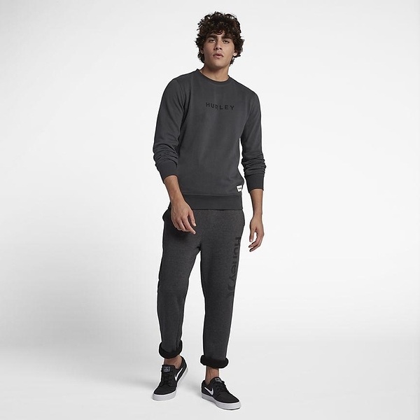 HURLEY 男 SURF CHECK ONE & ONLY TRACKPANT 長褲-深灰(男)