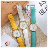 Catworld 鳳梨印花錶面皮質手錶【18002815】‧F