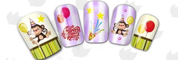猴年美甲貼紙 BLE2353  快樂猴 指甲貼紙 水印美DIY裝飾貼紙 想購了超級小物