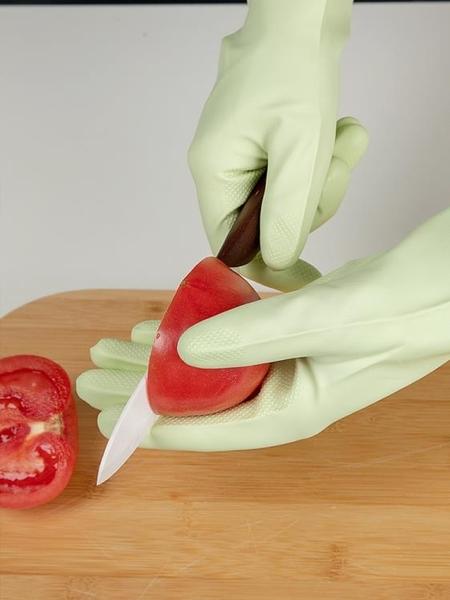 手套 洗碗手套女耐用型廚房家用家務清潔刷碗洗衣衣服薄款橡膠膠皮防水 解憂