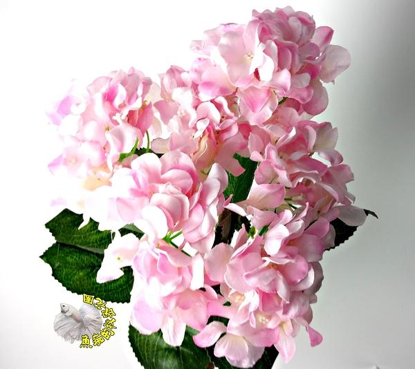 粉紅色 仿真6頭繡球花 假花☆居家店面櫥窗玄關.大廳擺飾.園藝飾品 盆栽裝飾 過年插花 節慶裝飾
