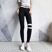 健身褲女 annerun高腰瑜伽褲女夏彈力緊身外穿運動健身褲薄款速干跑步褲子 芭蕾朵朵