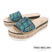 Tino Bellini 巴西進口異國風情繽紛珠飾麻編厚底涼拖鞋 _ 圖騰 B83239 歐洲進口款