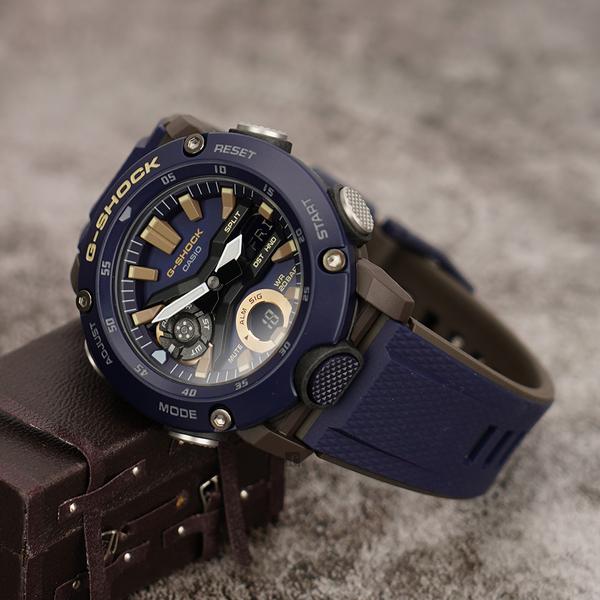 CASIO 卡西歐 G-SHOCK 海軍藍軍裝手錶 GA-2000-2A / GA-2000-2ADR