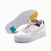 PUMA CALI SPORT WH WNS 女款白色 X 紅 X 奶油灰厚底休閒鞋-No.37390801