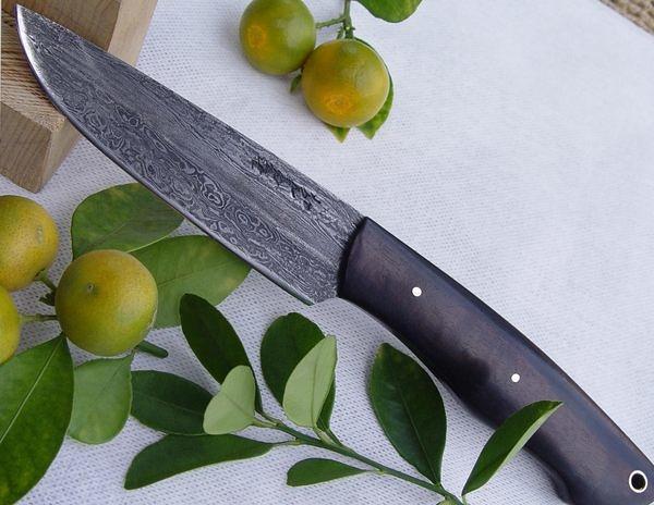 郭常喜與興達刀鋪-郭常喜積層花紋鋼手工製作-小獵刀(A0076)