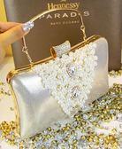宴會晚宴配旗袍婚紗禮服新娘手拿包女士手拎手提新款珍珠包包 LI1833『時尚玩家』