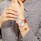 防潑水時尚款女休閒大氣女士手錶月光節