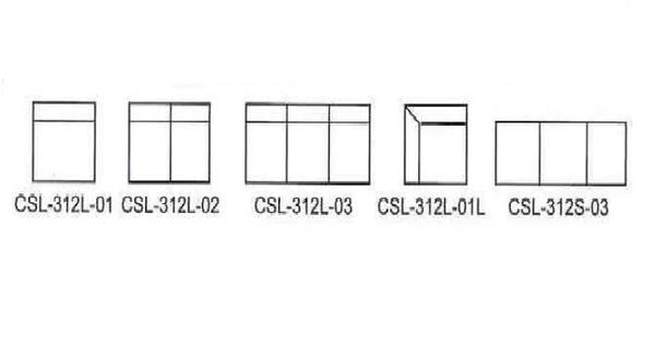 MS59-CSL-312L-01   L型組合式沙發-緹花布-有背無扶手-不含茶几