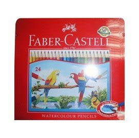 Faber-Castell 輝柏 115925 水性彩色鉛筆 24色 / 盒 (鐵盒裝)