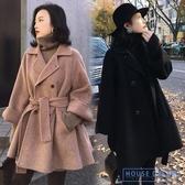 斗篷外套女 雙面羊絨大衣女秋冬季2020流行小個子小香風中長款斗篷子外套