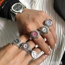 戒指 SAZ 手表戒指男土酷原宿ins風潮流韓版復古創意裝飾可調節食指環 生活主義