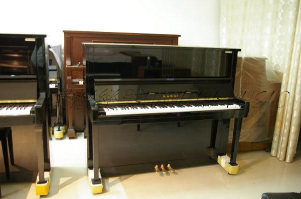 【HLIN漢麟樂器】-日本原裝kawai河合123號直立式中古二手鋼琴-原木-亮黑-豪華51