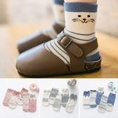 兒童襪子 五雙入 卡通條紋童襪 純棉 寶寶襪 新生兒 透氣 襪子88031