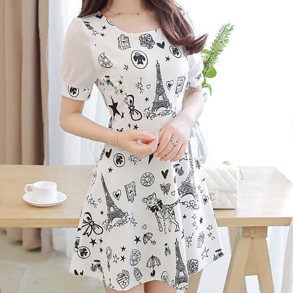 新款 甜美針織網紗拼接 修身顯瘦 連身短裙 D067a ◆ 韓妮小熊