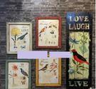 [協貿國際]   小號小鳥木板畫咖啡廳櫥...