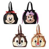 【KP】迪士尼保冷束口提袋 米奇米妮 奇奇蒂蒂 便當袋 手提包 束口袋 正版日本進口 DTT0522407