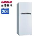 【南紡購物中心】【SANLUX 台灣三洋】206公升一級能效雙門冰箱(SR-C206B1)