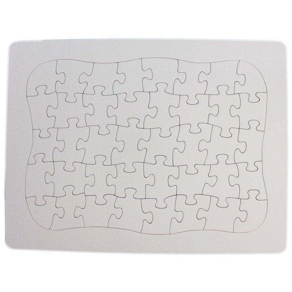 空白拼圖 小40片(加厚) 彩繪拼圖/一個入(定25) DIY拼圖 27.8cm x 21cm-AA4373
