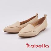 itabella.素面羊皮尖頭包鞋(0236-01米色)