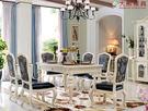 【大熊傢俱】JIN 801B 美式餐桌 長桌 吃飯桌 餐台 大理石餐台 桌子 歐式 新古典 美式鄉村 另售餐椅