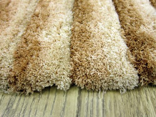 范登伯格 彩之舞 漸層條紋厚蓬地毯-淺棕08-200x290cm
