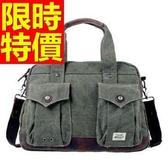 帆布包-水洗多隔層流行可側背男手提包2色59j65【巴黎精品】