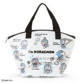 〔小禮堂〕哆啦A夢 防水保冷手提便當袋《藍白.滿版》手提袋.野餐袋.保冷袋 4901610-88531
