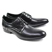 【CR Cerini】黑色真皮圓孔紳士鞋(68471-BL)