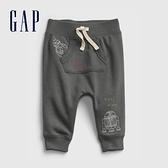 Gap嬰兒 Gap x Star Wars星際大戰系列刺繡長褲 825757-煙灰色