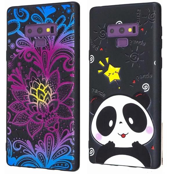 三星 Note9 Note8 S9 S9 Plus S8 Plus S8 光油浮雕TPU 手機殼 全包邊 黑底 軟殼 保護殼