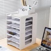 康沃茲文件架多層資料辦公用品收納分類辦公桌面收納盒置物收納盒 3C優購