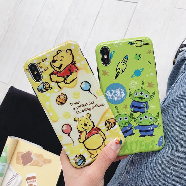 【SZ25】光面三眼怪小熊維尼 iphone xs max手機殼 xr防摔手機殼 iphone 8 plus手機殼 i6s plus 手機殼