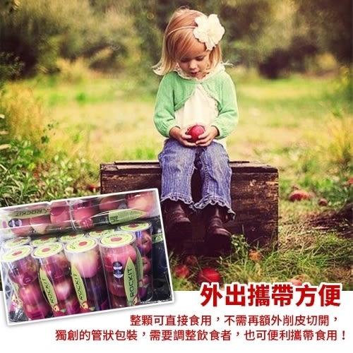 每管269元起【果之蔬-全省免運】Rockit樂淇甜櫻桃小蘋果X1管(每管5顆 205g±10%/管)