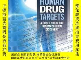 二手書博民逛書店Human罕見Drug Targets: A Compendium for Pharmaceutical Disc