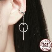 耳環 925純銀-鑲鑽日韓時尚無耳洞長款女飾品73oh39[時尚巴黎]