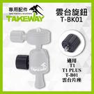 【T-BK01 固定雲台旋鈕 更換零件】適用 Takeway TBK01 TB01 TB02 TB03  T1 鉗式腳架