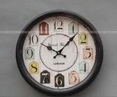 【協貿國際】掛鐘創意歐式英倫鐵藝金屬靜音裝飾鐘