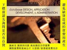 二手書博民逛書店Database罕見Design, Application Development, And Administra