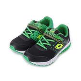 LOTTO 雙色動力氣墊跑鞋 黑綠 LT7AKR5860 大童鞋 鞋全家福
