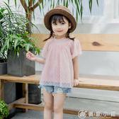 中小大女童童裝夏季新款蕾絲裙100-140碼6301 優家小鋪