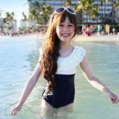 【新年鉅惠】兒童泳衣女孩連體可愛韓國中大童公主女童游泳衣性感帶帽泳裝