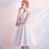 晚禮服2019新款香檳色宴會洋裝名媛派對小禮服短款顯瘦連身裙女夏Mandyc
