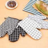 隔熱手套烘焙專用手套廚房耐高溫手套加厚隔熱烤箱微波爐 防燙手套 伊莎公主