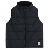 Gap男幼童 簡約風格鋪棉背心 403887-正黑色