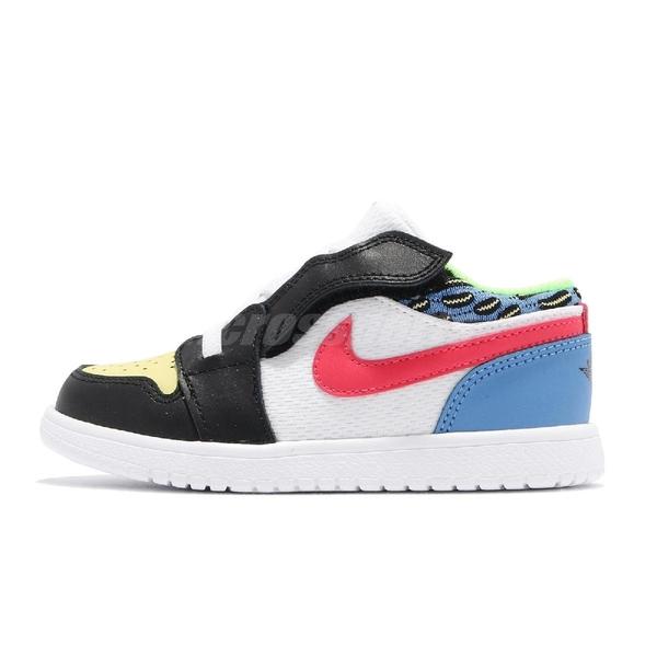 Nike 休閒鞋 Air Jordan 1 Low ALT TD 白 彩色 童鞋 小童 Funky Patterns 喬丹 AJ1 【ACS】 DH5928-006