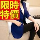 西裝外套韓版-OL極簡經典休閒女外套3色54a1【巴黎精品】