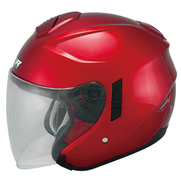 M2R FR-1 FR1 雙層鏡片 遮陽鏡片 內襯全可拆洗 四分之三 半罩式 半罩 安全帽 素色 酒紅 紅色