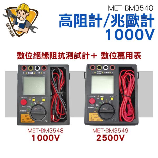 《精準儀錶旗艦店》兆歐器 水電工具 背光 CE認證 1000V型 MET-BM3548
